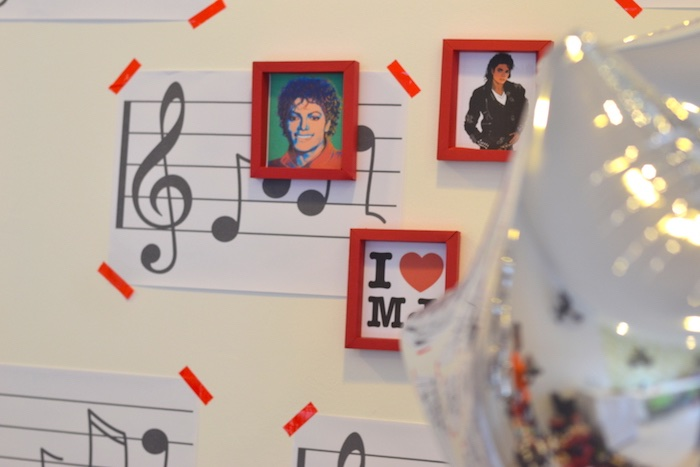 Michael Jackson music backdrop from a Michael Jackson Birthday Party on Kara's Party Ideas | KarasPartyIdeas.com (8)
