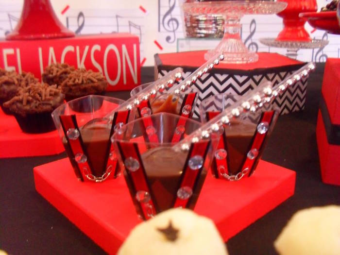 Jeweled pudding cups from a Michael Jackson Birthday Party on Kara's Party Ideas | KarasPartyIdeas.com (24)