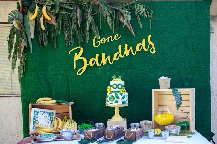 Dessert spread from a Minions Gone Bananas Birthday Party on Kara's Party Ideas | KarasPartyIdeas.com (10)