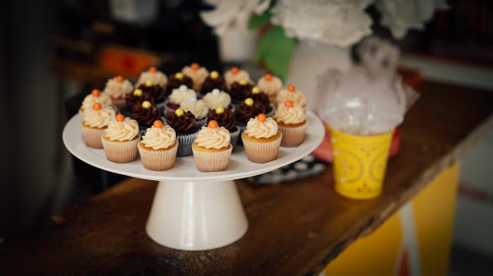 Cupcakes from a Modern Construction Birthday Party on Kara's Party Ideas | KarasPartyIdeas.com (11)