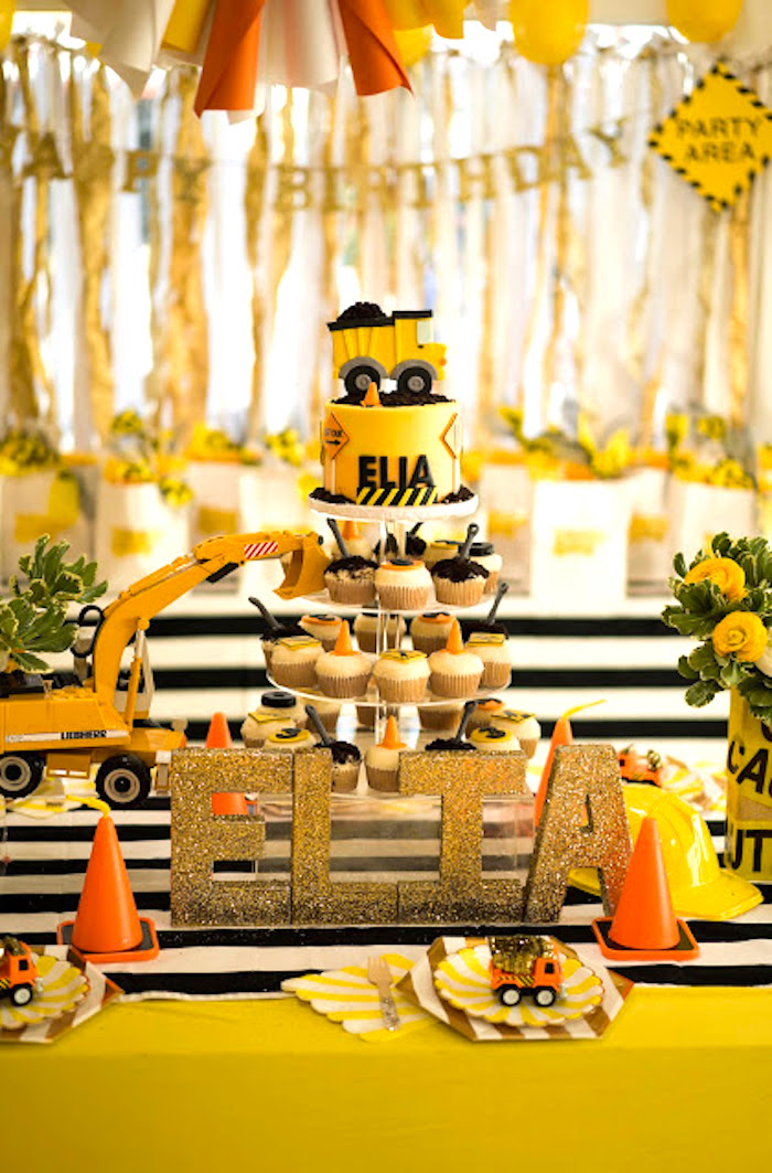 Kara S Party Ideas Modern Construction Birthday Party