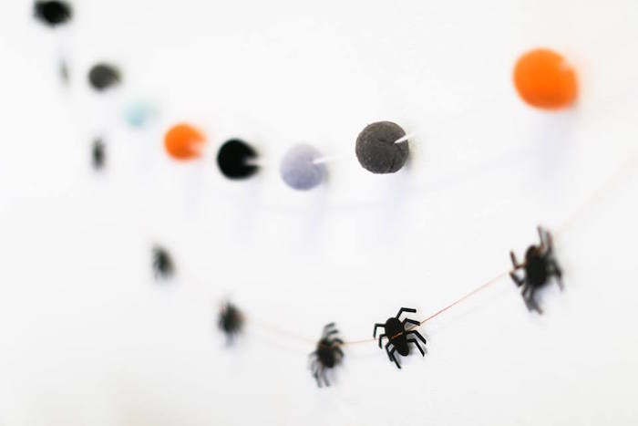 Halloween bunting from a Modern Glam Halloween Party for Kids on Kara's Party Ideas | KarasPartyIdeas.com (16)