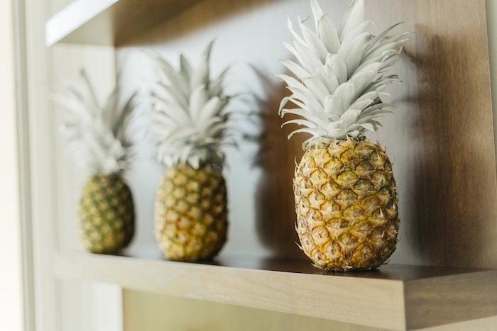 "Pineapples from a Modern Tropical ""Cheers to Sixty"" Birthday Party on Kara's Party Ideas 