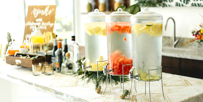 Modern Tropical Cheers To Sixty Birthday Party On Karas Ideas