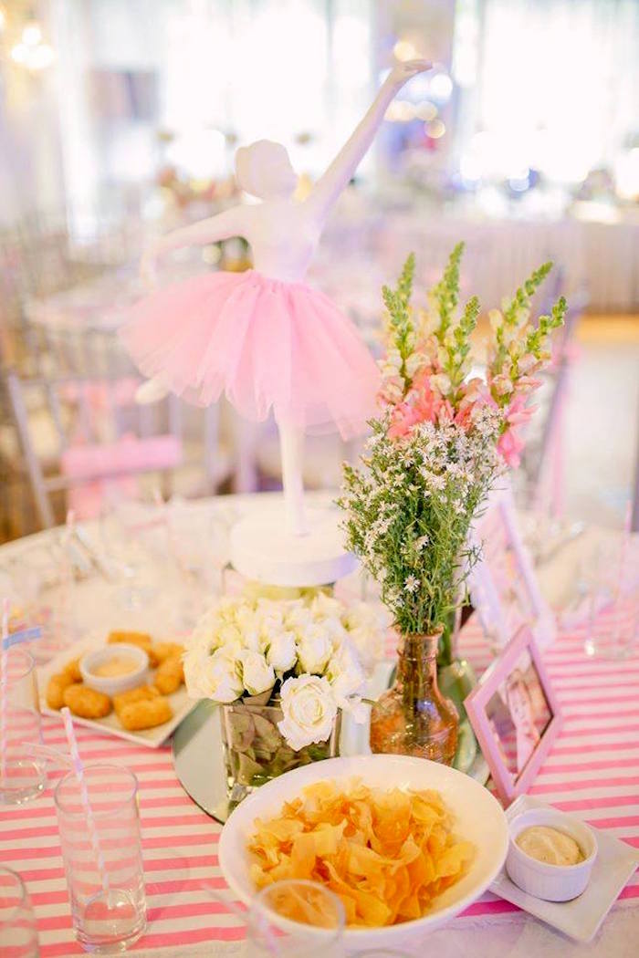 Guest tablescape from a Nutcracker Ballerina Birthday Party on Kara's Party Ideas | KarasPartyIdeas.com (44)