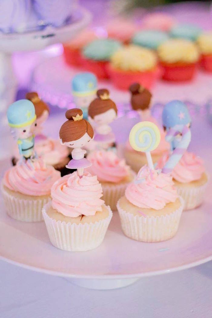 Nutcracker themed cupcakes from a Nutcracker Ballerina Birthday Party on Kara's Party Ideas | KarasPartyIdeas.com (37)
