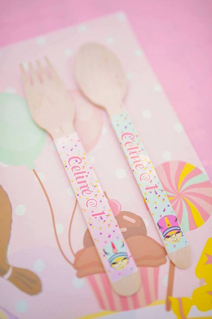 Wooden utensils from a Nutcracker Ballerina Birthday Party on Kara's Party Ideas | KarasPartyIdeas.com (33)