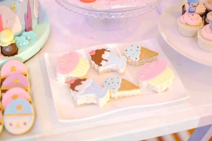 Cupcake and ice cream sweets from a Nutcracker Ballerina Birthday Party on Kara's Party Ideas | KarasPartyIdeas.com (23)
