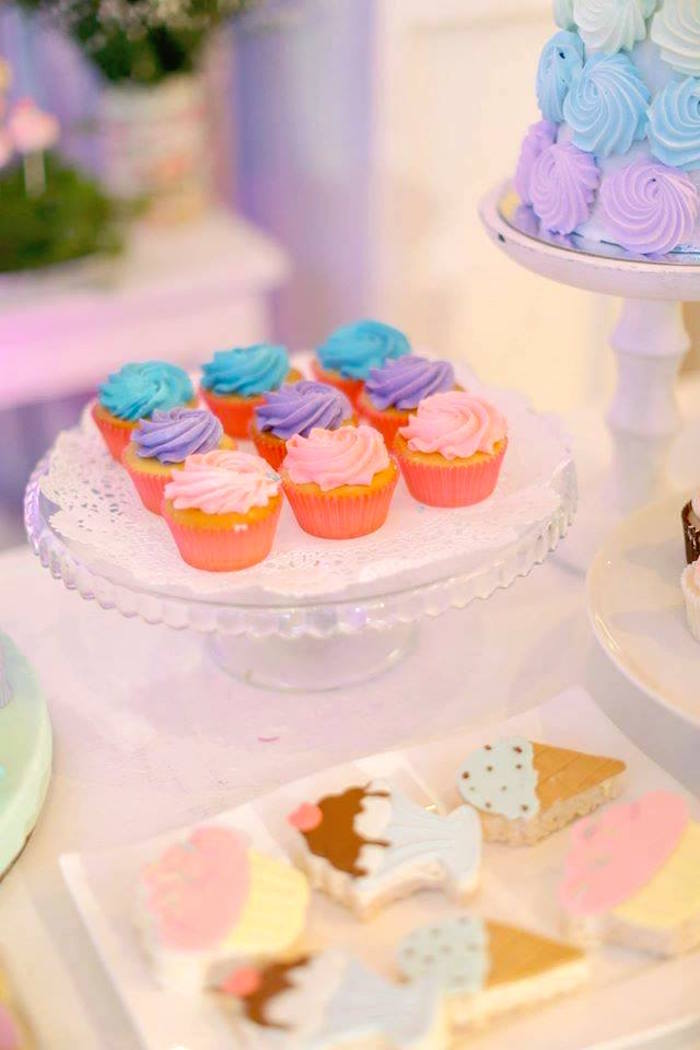Cupcakes from a Nutcracker Ballerina Birthday Party on Kara's Party Ideas | KarasPartyIdeas.com (22)