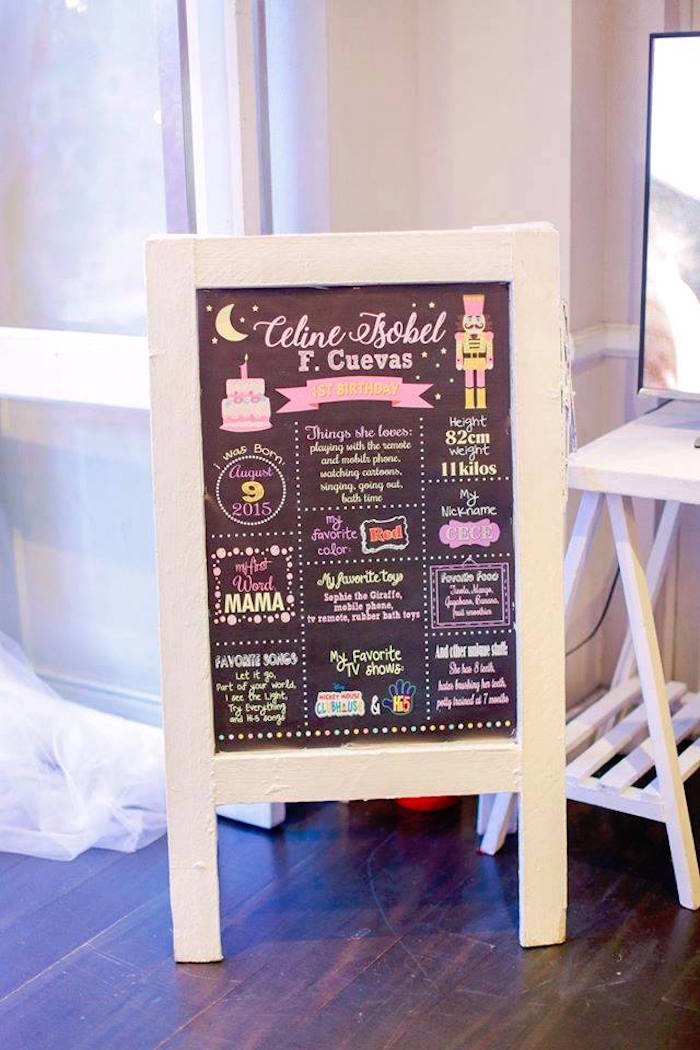 Fact board from a Nutcracker Ballerina Birthday Party on Kara's Party Ideas | KarasPartyIdeas.com (20)
