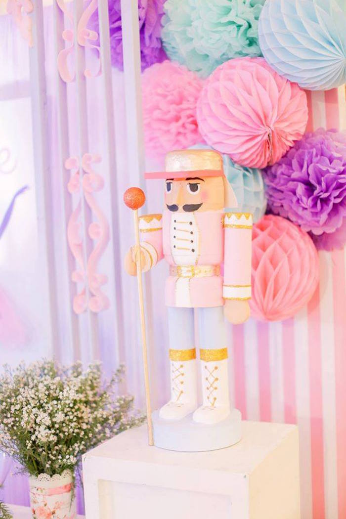 Nutcracker backdrop from a Nutcracker Ballerina Birthday Party on Kara's Party Ideas | KarasPartyIdeas.com (17)