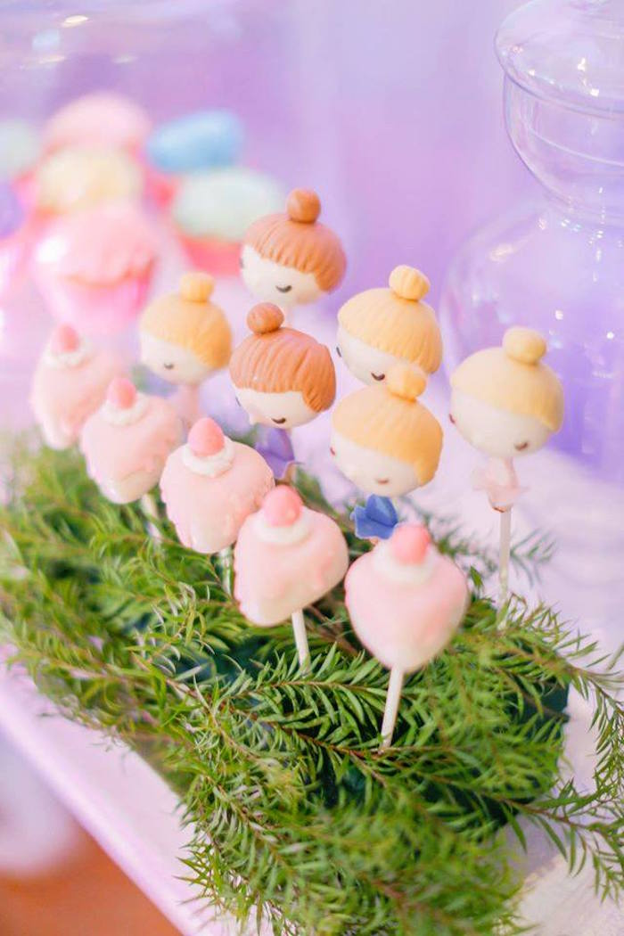 Sugar Plum Ferry cake pops from a Nutcracker Ballerina Birthday Party on Kara's Party Ideas | KarasPartyIdeas.com (12)
