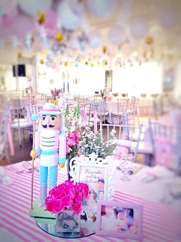 Guest table from a Nutcracker Ballerina Birthday Party on Kara's Party Ideas | KarasPartyIdeas.com (10)