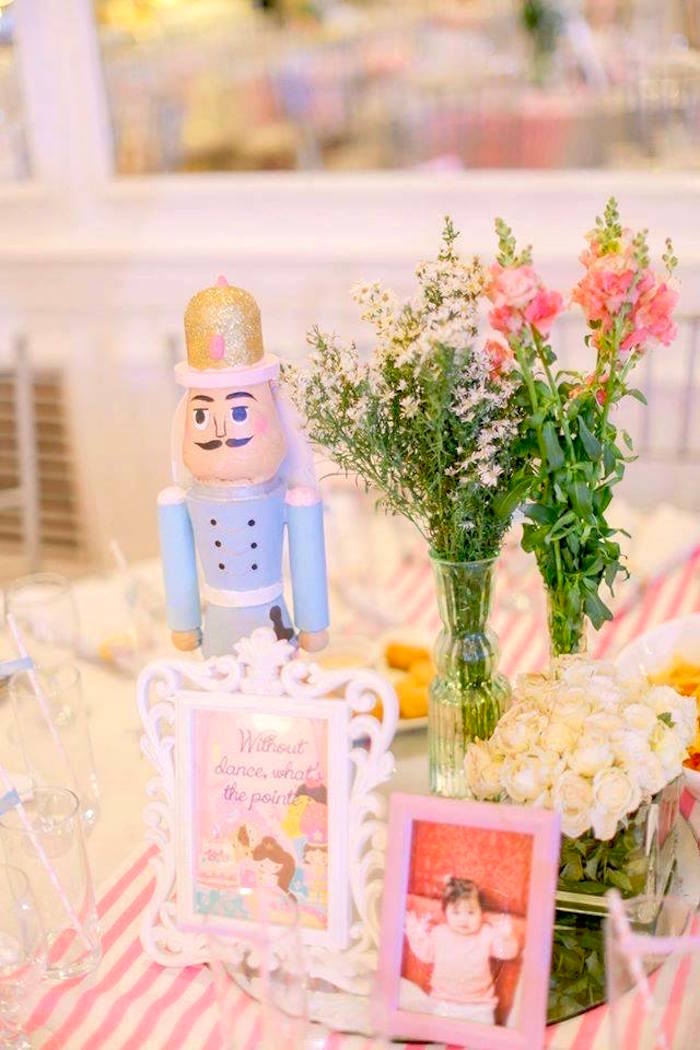 Nutcracker & flower centerpieces from a Nutcracker Ballerina Birthday Party on Kara's Party Ideas | KarasPartyIdeas.com (47)