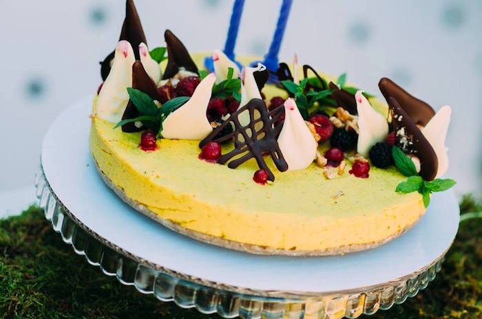 Lemon cake from an Outdoor Brunch Birthday Party on Kara's Party Ideas | KarasPartyIdeas.com (10)