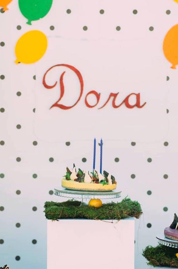 Cake from an Outdoor Brunch Birthday Party on Kara's Party Ideas | KarasPartyIdeas.com (6)