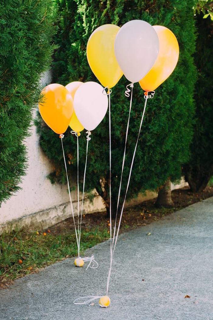 Balloons from an Outdoor Brunch Birthday Party on Kara's Party Ideas | KarasPartyIdeas.com (4)