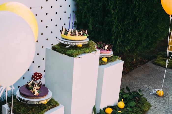 Cakes from an Outdoor Brunch Birthday Party on Kara's Party Ideas | KarasPartyIdeas.com (3)