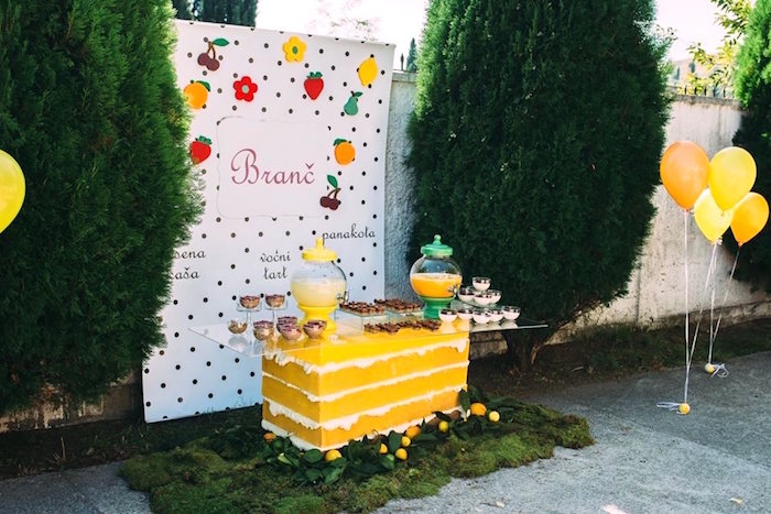 Sweet Table From An Outdoor Brunch Birthday Party On Karas Ideas