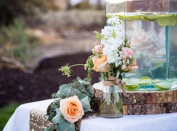 Fresh florals + blooms from an Outdoor Vintage Vow Renewal on Kara's Party Ideas | KarasPartyIdeas.com (19)