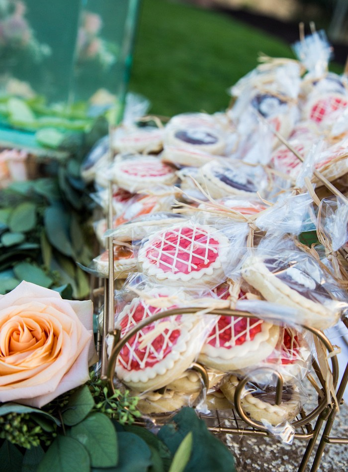 Cookies from an Outdoor Vintage Vow Renewal on Kara's Party Ideas | KarasPartyIdeas.com (17)