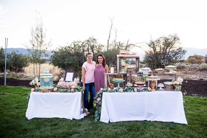 Beverage and dessert tables from an Outdoor Vintage Vow Renewal on Kara's Party Ideas | KarasPartyIdeas.com (12)