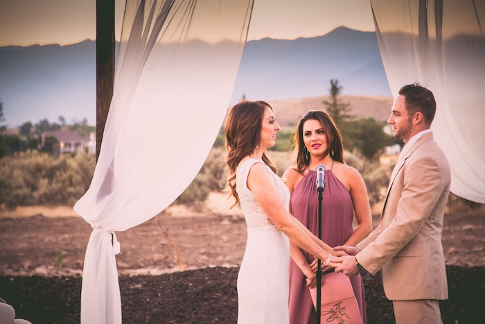 Vow renewal from a Outdoor Vintage Vow Renewal on Kara's Party Ideas   KarasPartyIdeas.com (8)