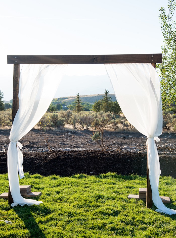 Vow awning from an Outdoor Vintage Vow Renewal on Kara's Party Ideas   KarasPartyIdeas.com (26)