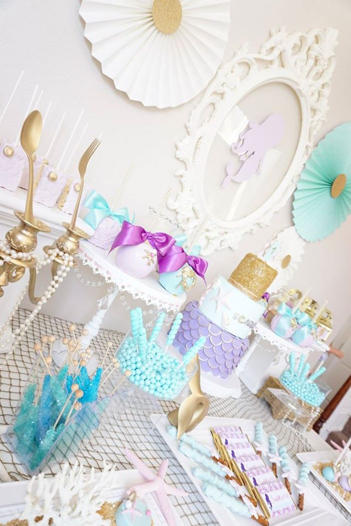 Pastel Mermaid Party on Kara's Party Ideas | KarasPartyIdeas.com (8)