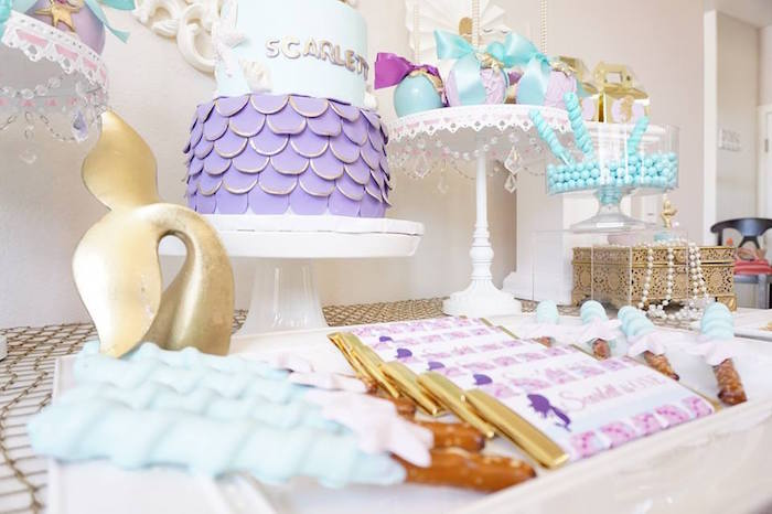 Pastel Mermaid Party on Kara's Party Ideas | KarasPartyIdeas.com (15)