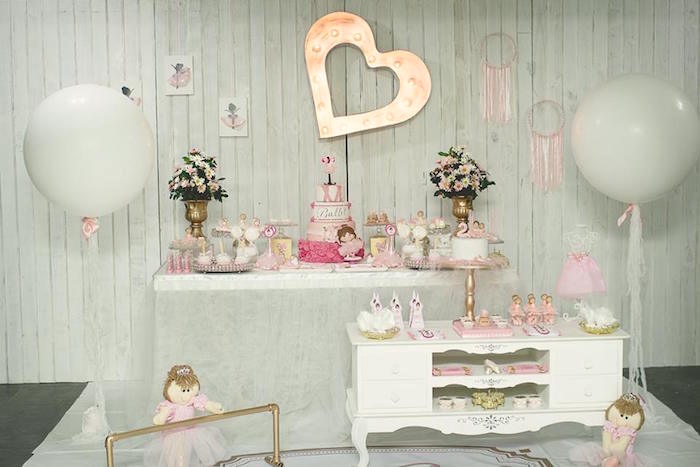 Pink Ballerina Birthday Party on Kara's Party Ideas | The Place for All Things PARTY! KarasPartyIdeas.com (28)