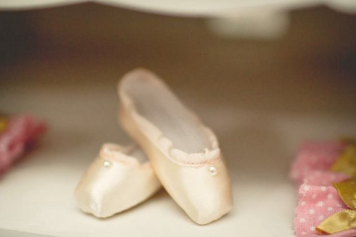 Ballet slippers from a Pink Ballerina Birthday Party on Kara's Party Ideas | The Place for All Things PARTY! KarasPartyIdeas.com (45)