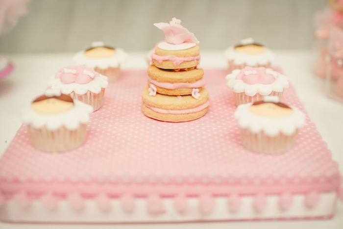 Stacked cookie & sweets from a Pink Ballerina Birthday Party on Kara's Party Ideas | The Place for All Things PARTY! KarasPartyIdeas.com (25)