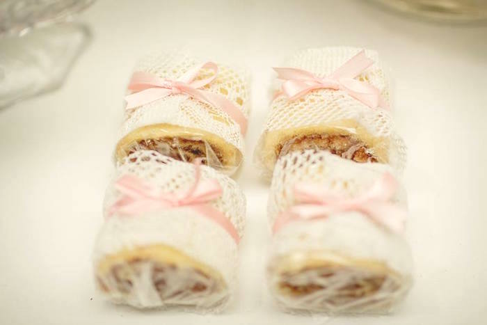 Lace wrapped sweets from a Pink Ballerina Birthday Party on Kara's Party Ideas | The Place for All Things PARTY! KarasPartyIdeas.com (21)