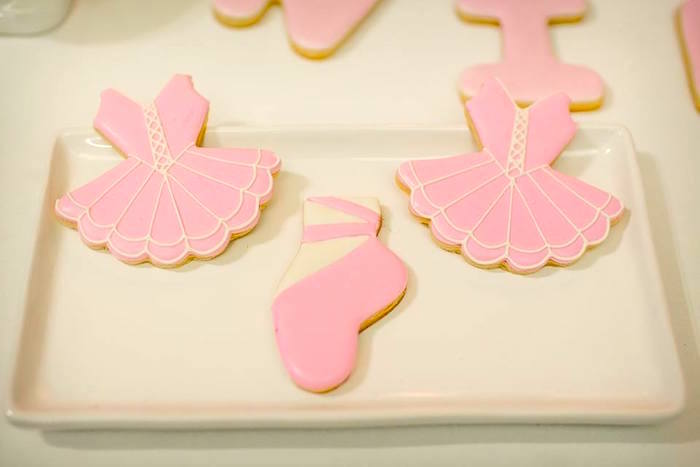Ballet cookies from a Pink Ballerina Birthday Party on Kara's Party Ideas | The Place for All Things PARTY! KarasPartyIdeas.com (13)