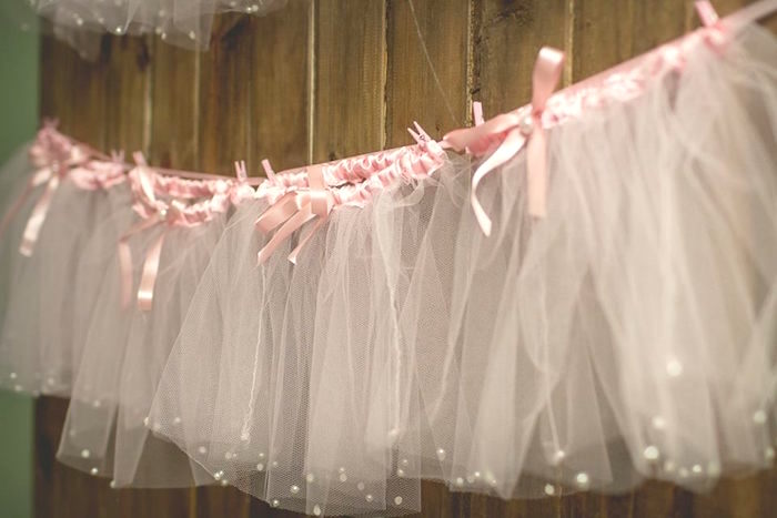 Tutu-inspired garland + bunting from a Pink Ballerina Birthday Party on Kara's Party Ideas | The Place for All Things PARTY! KarasPartyIdeas.com (40)