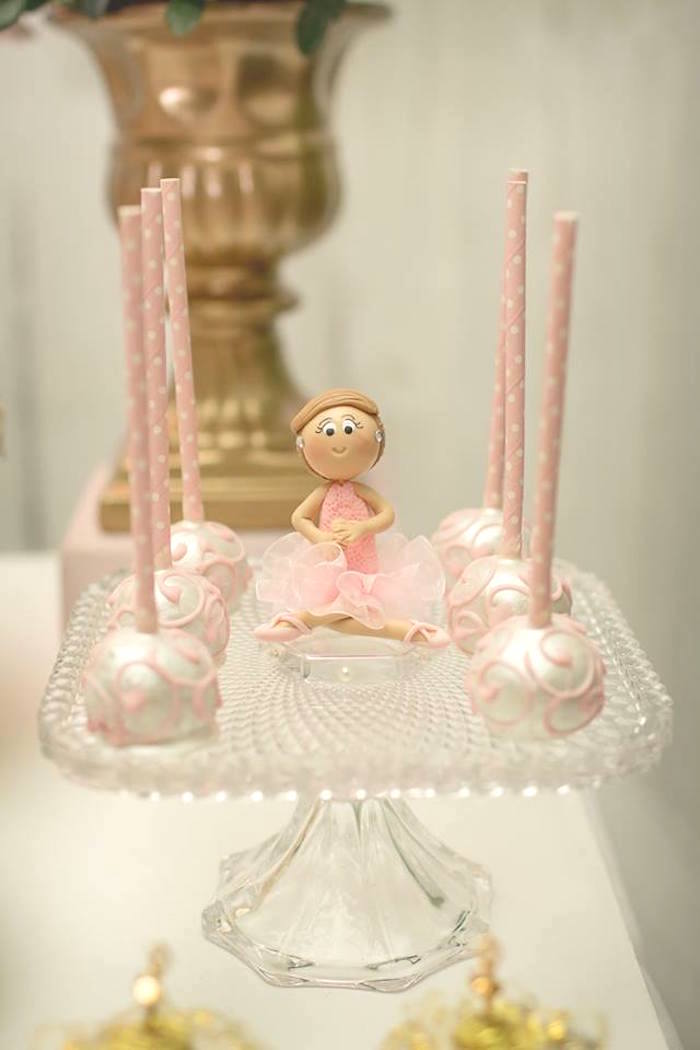 Cake pops from a Pink Ballerina Birthday Party on Kara's Party Ideas | The Place for All Things PARTY! KarasPartyIdeas.com (38)