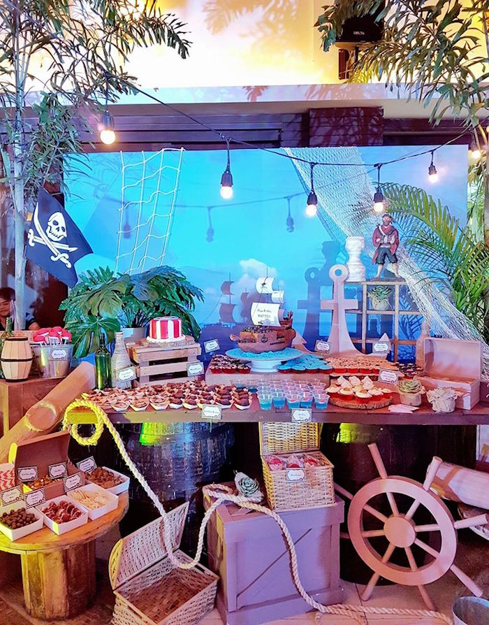 Dessert table from a Pirate Birthday Party on Kara's Party Ideas | KarasPartyIdeas.com (22)