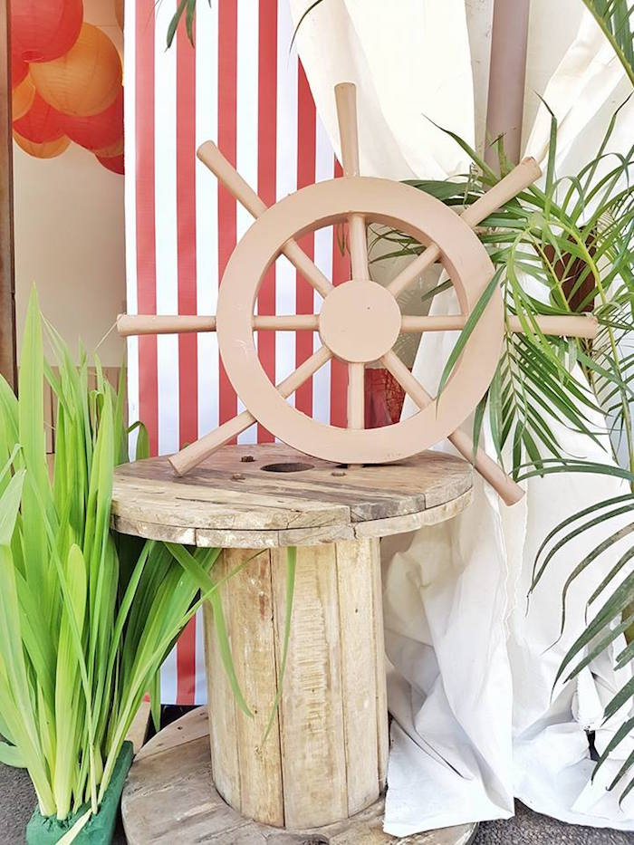 Nautical decor from a Pirate Birthday Party on Kara's Party Ideas | KarasPartyIdeas.com (16)