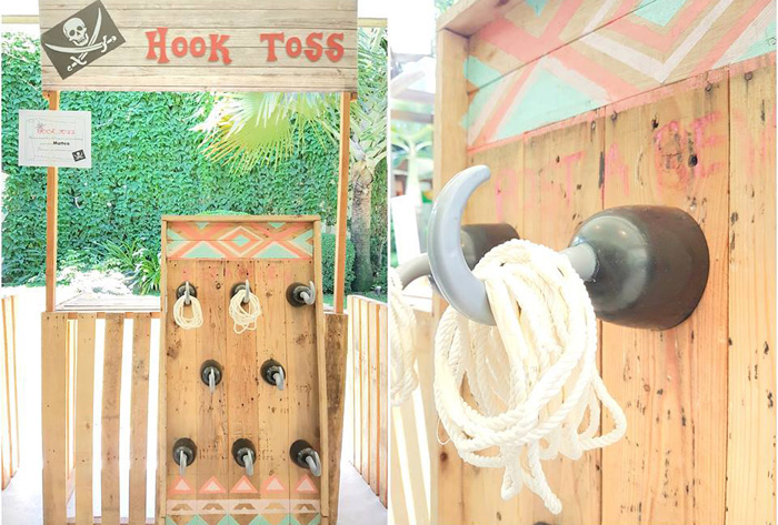 Hook Toss game from a Pirate Birthday Party on Kara's Party Ideas | KarasPartyIdeas.com (5)