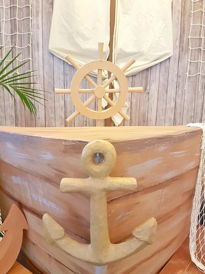 Pirate ship from a Pirate Birthday Party on Kara's Party Ideas | KarasPartyIdeas.com (32)