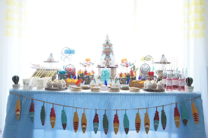 Pow Wow Birthday Party on Kara's Party Ideas | KarasPartyIdeas.com (20)