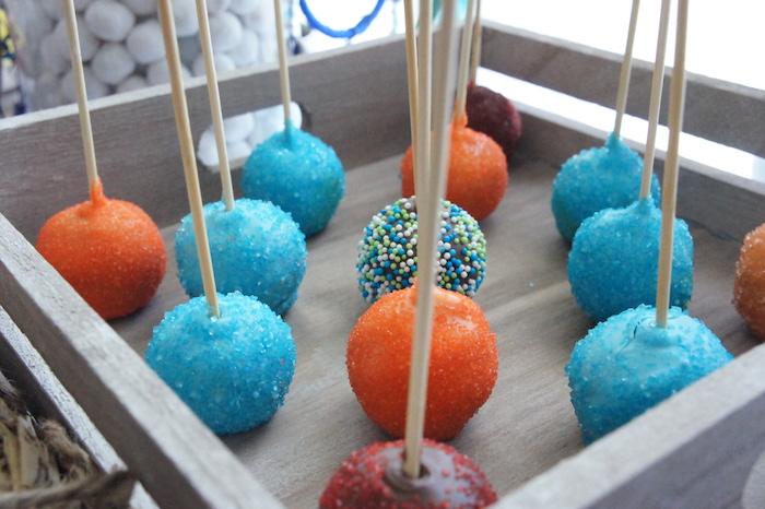 Cake balls from a Pow Wow Birthday Party on Kara's Party Ideas | KarasPartyIdeas.com (15)