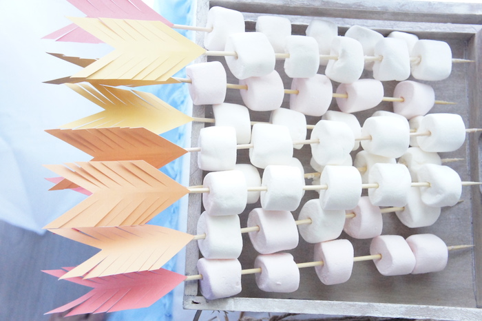 Arrow marshmallow kabobs from a Pow Wow Birthday Party on Kara's Party Ideas | KarasPartyIdeas.com (12)