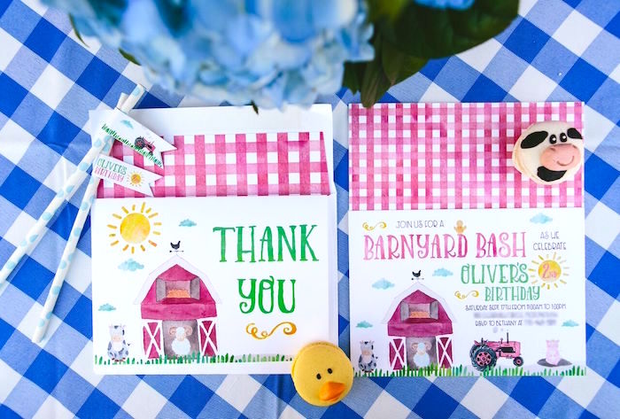 Barnyard party stationery from a Preppy Barnyard Farm Party on Kara's Party Ideas | KarasPartyIdeas.com (36)