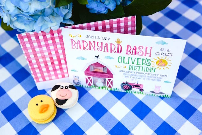 Barnyard party invitation from a Preppy Barnyard Farm Party on Kara's Party Ideas | KarasPartyIdeas.com (35)