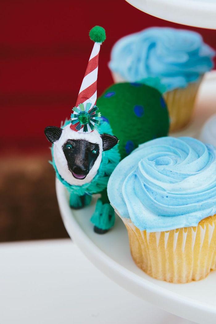 Party lamb from a Preppy Barnyard Farm Party on Kara's Party Ideas | KarasPartyIdeas.com (21)