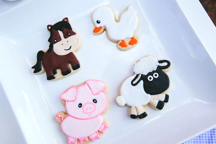 Barnyard animal cookies from a Preppy Barnyard Farm Party on Kara's Party Ideas | KarasPartyIdeas.com (19)