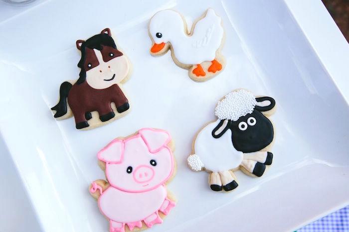 Barnyard animal cookies from a Preppy Barnyard Farm Party on Kara's Party Ideas | KarasPartyIdeas.com (19)