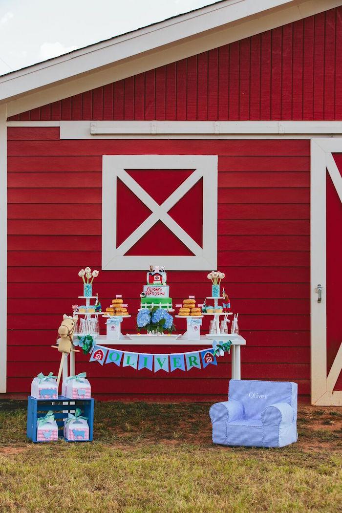 Preppy Barnyard Farm Party on Kara's Party Ideas | KarasPartyIdeas.com (14)